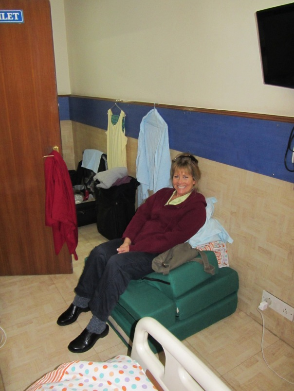 "Sheila in Ari's first room... sitting on her ""bed"""