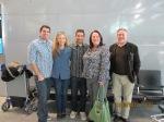 SFO before departing, Michael, Kate, Ari, Denise and Wayne