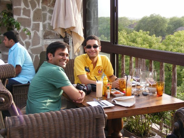 SanJay and Ari at lunch at Amour... last day