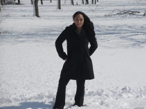 Dannie in the Wichita Snow... Taking Walks -- PLURAL---for the First time in Years.